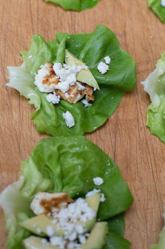 Lemon Tofu Feta & Avocado Wraps