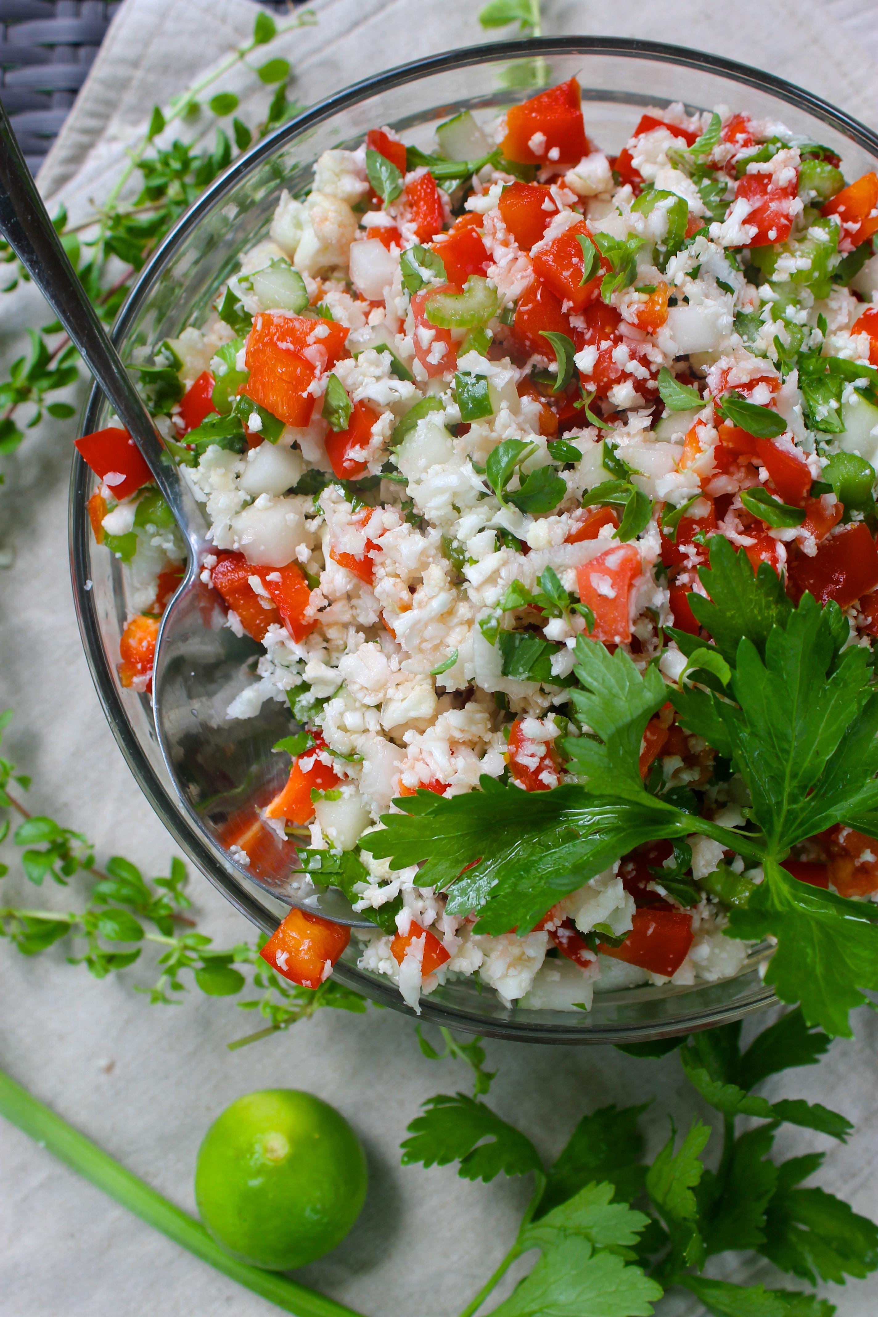 Mint & Pineapple Cauliflower Tabbouleh