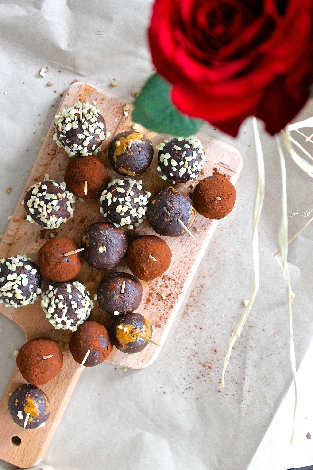 seductive chocolate peanut butter bites