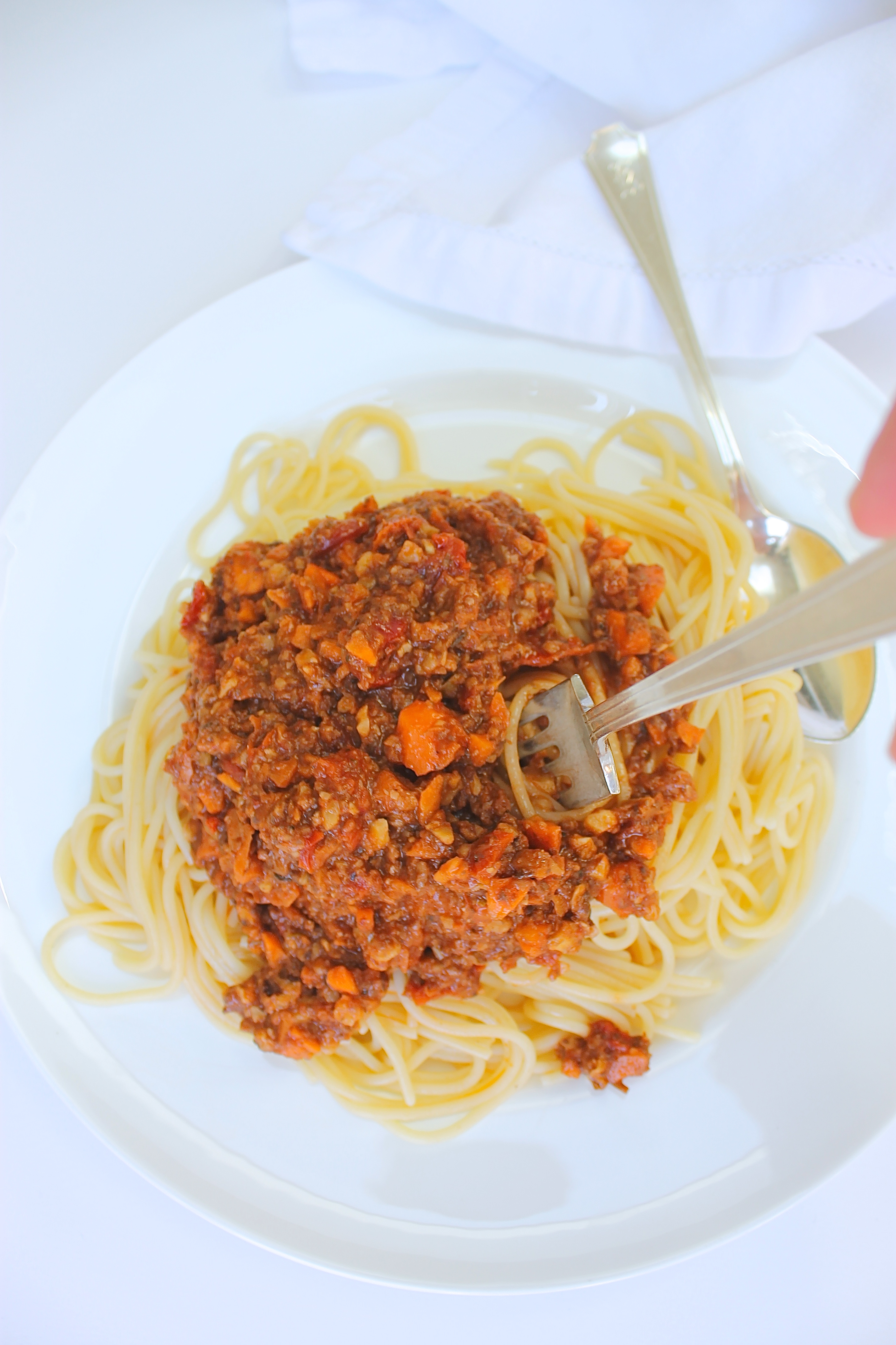 Comforting Spaghetti Bolognese (Vegan & GF)
