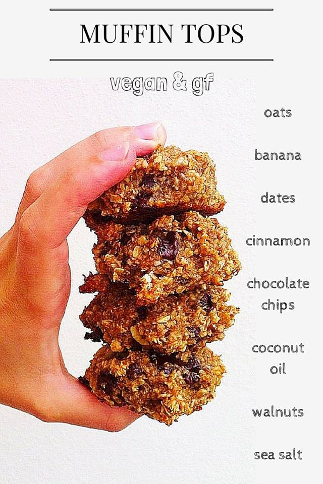 Easy Banana Chocolate Chip Muffin Tops (VEGAN & GF)