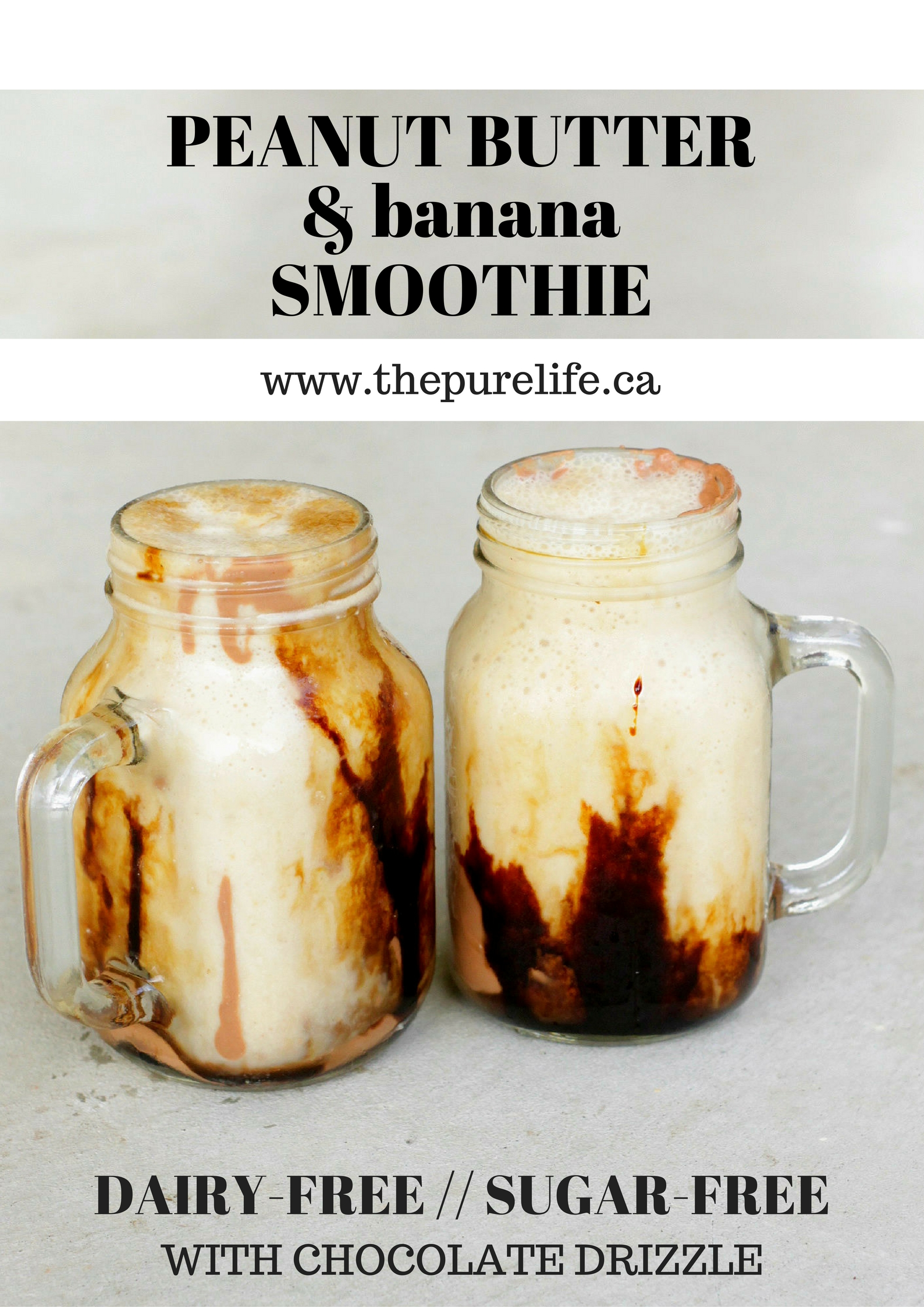 Peanut Butter Smoothie - THE PURE LIFE