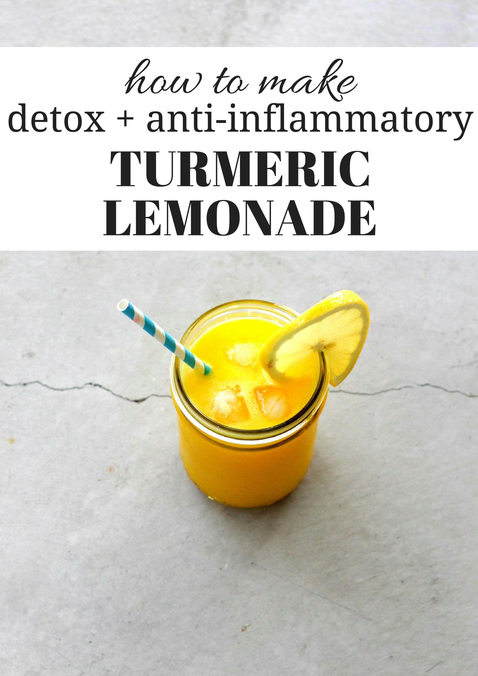 How to Make Turmeric Lemonade