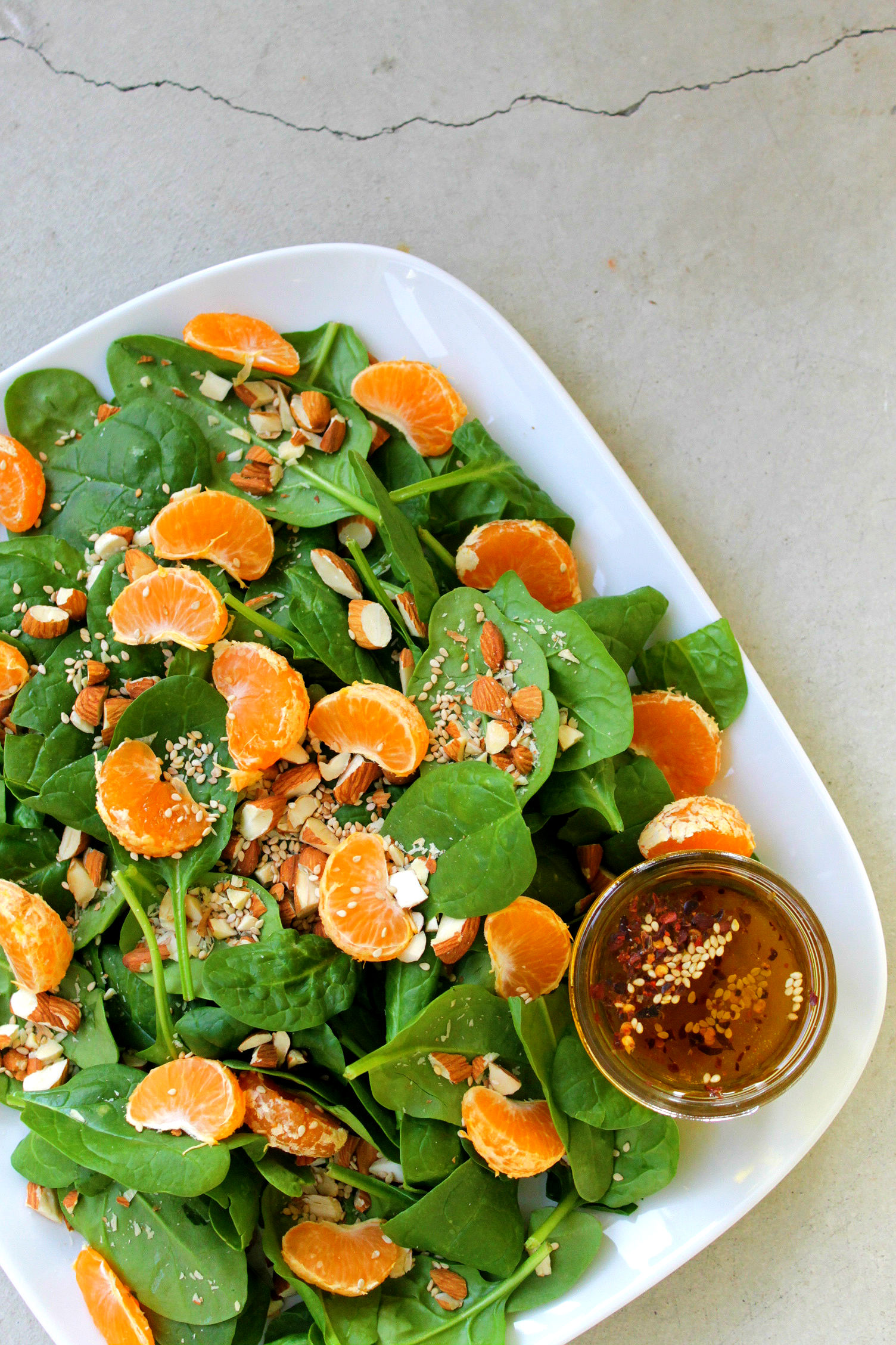 Sesame Spinach Salad Canva