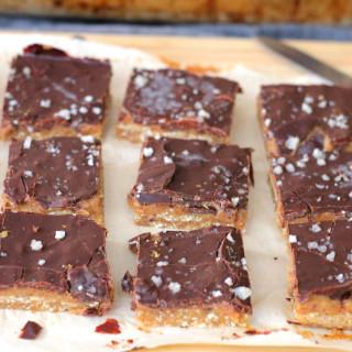 Raw Vegan Salted Caramel Slices