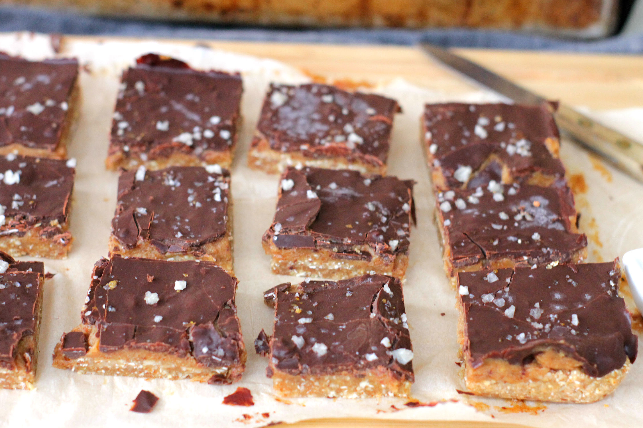 Raw Vegan Salted Caramel Slices