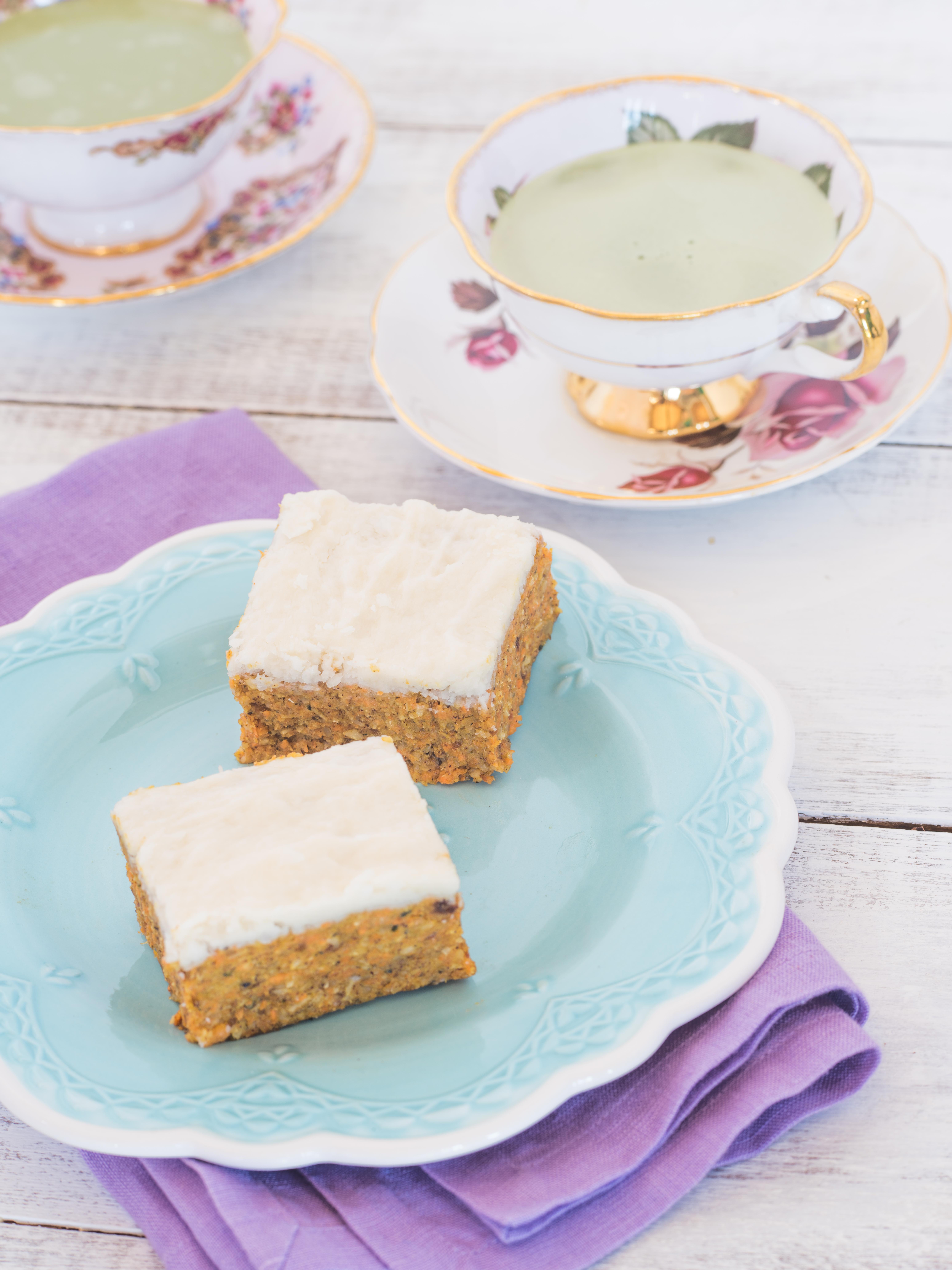 No-Bake Carrot Cake Squares with Lemon Icing