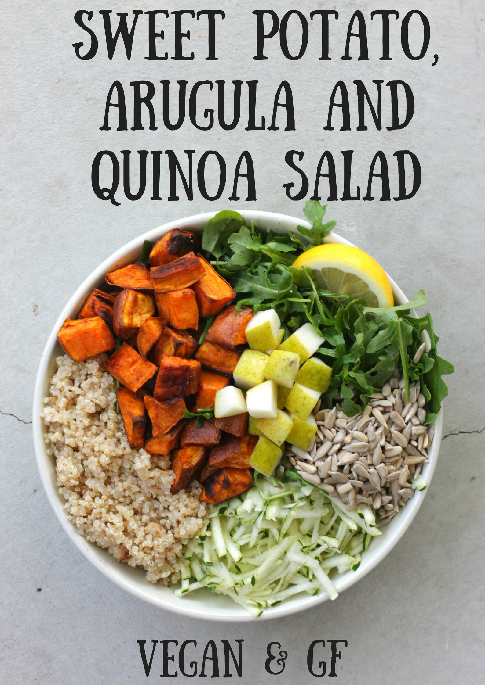 SWEET POTATO, ARUGULA AND QUINOA SALAD