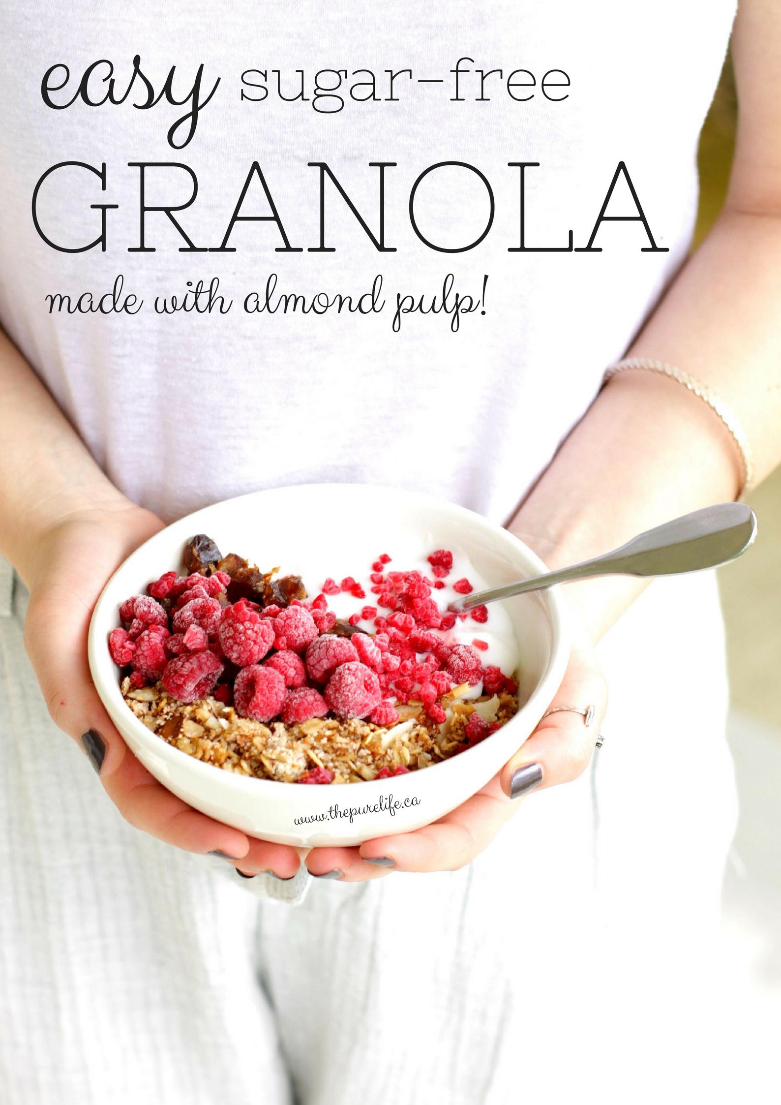 Easy Sugar-Free Almond Pulp Granola