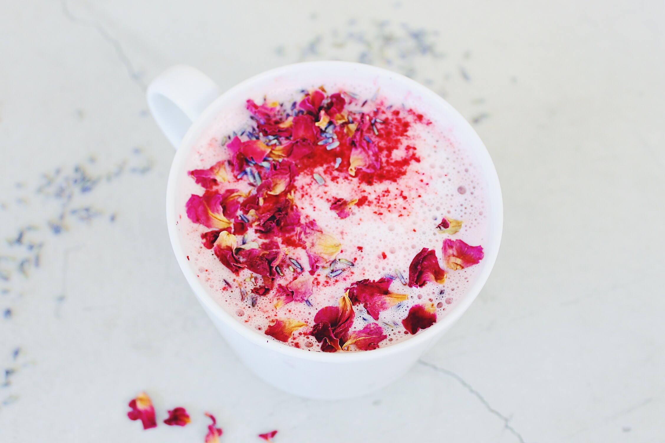 Beet, Rose & Maca Latte