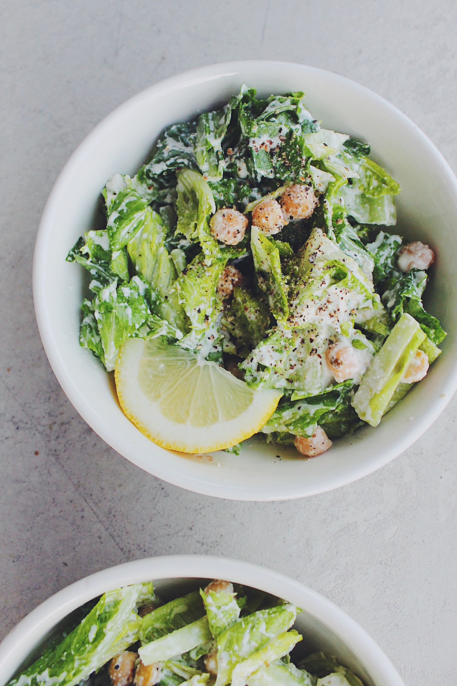 Healthy Garlicky Caesar Salad