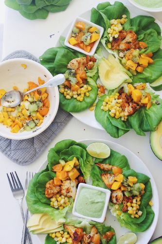 Cauliflower Lettuce Wrap Tacos