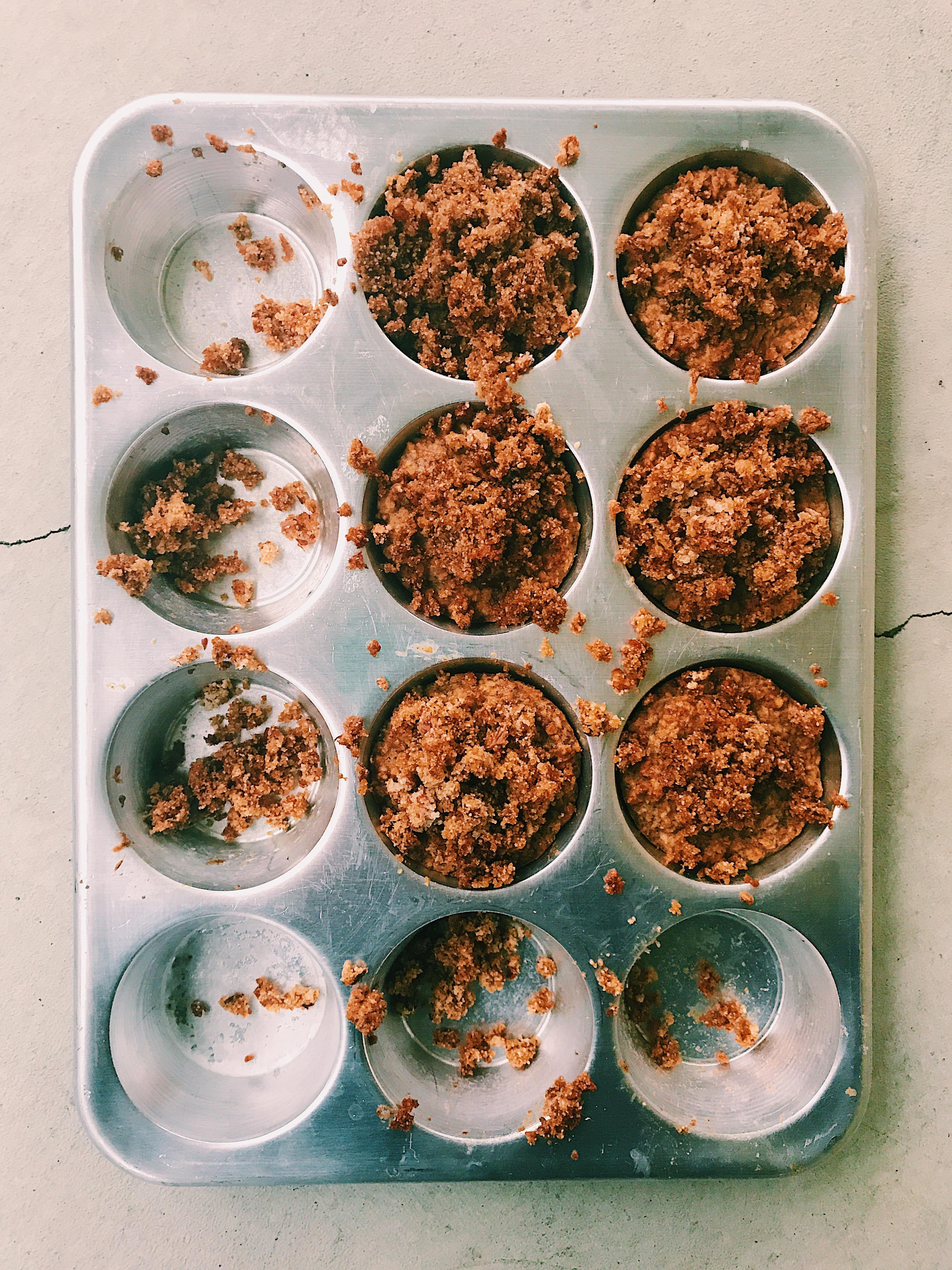 Vegan Banana Oat Flour Muffins