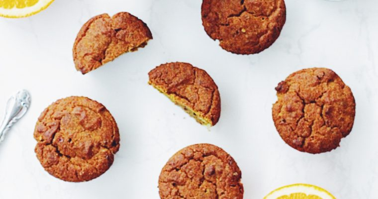 Orange Spice & Turmeric Muffins (Vegan + GF)