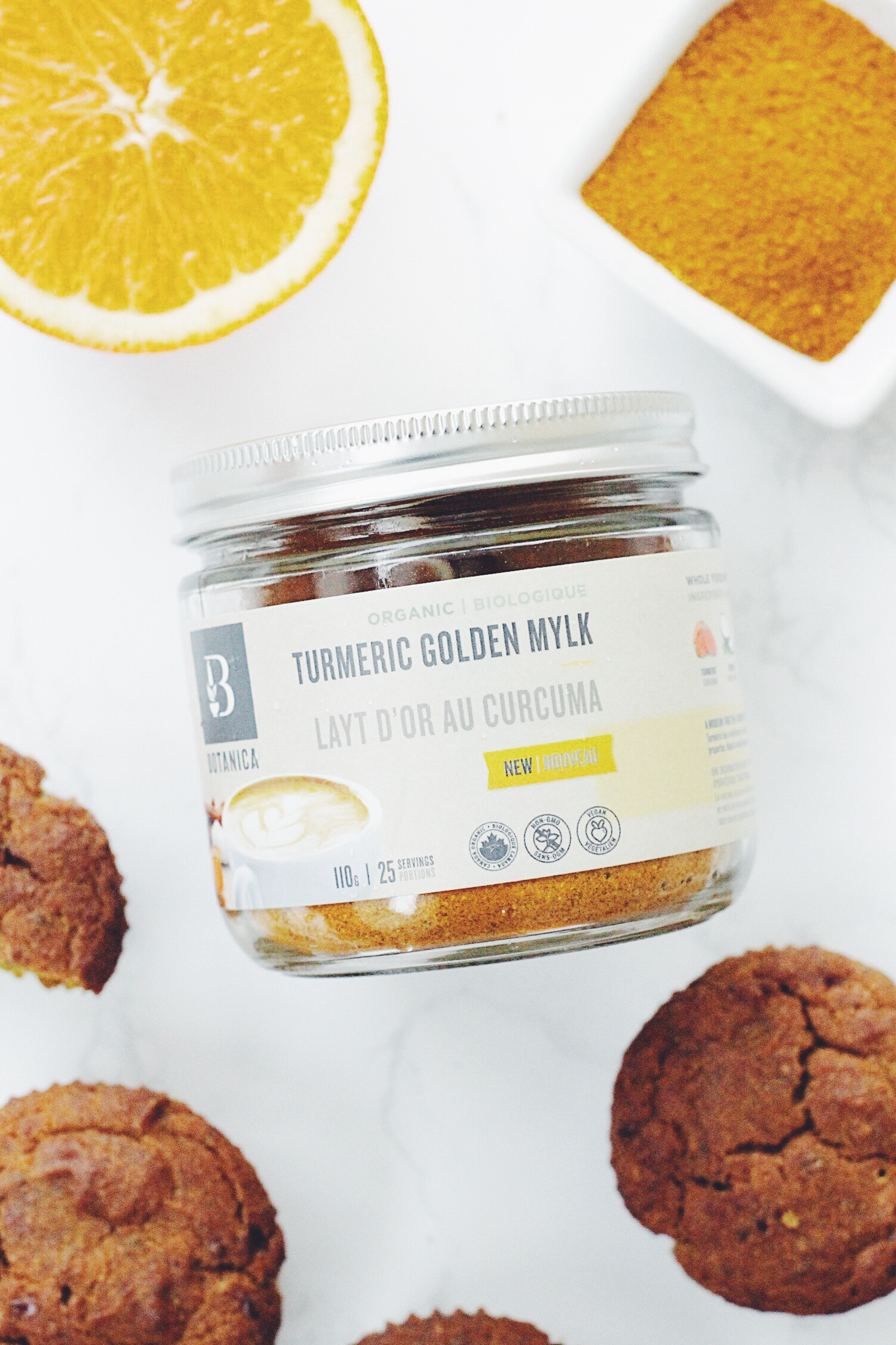 Orange Spice & Turmeric Muffins (Vegan + GF)