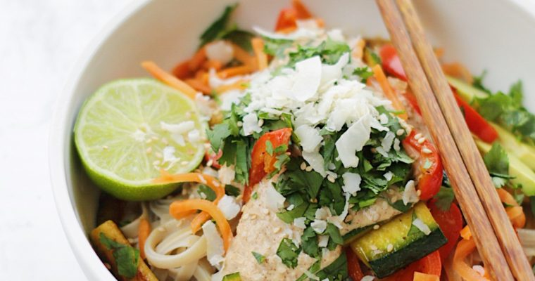 Almond Coconut Pad Thai