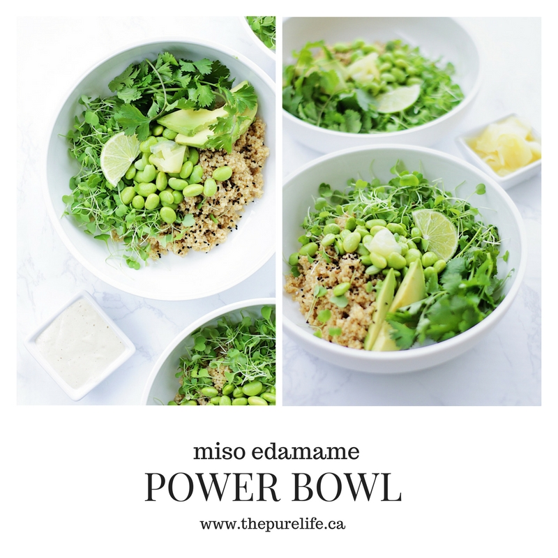 miso edamame power bowl
