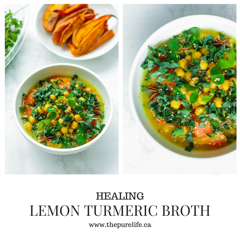 Healing Lemon Turmeric Broth