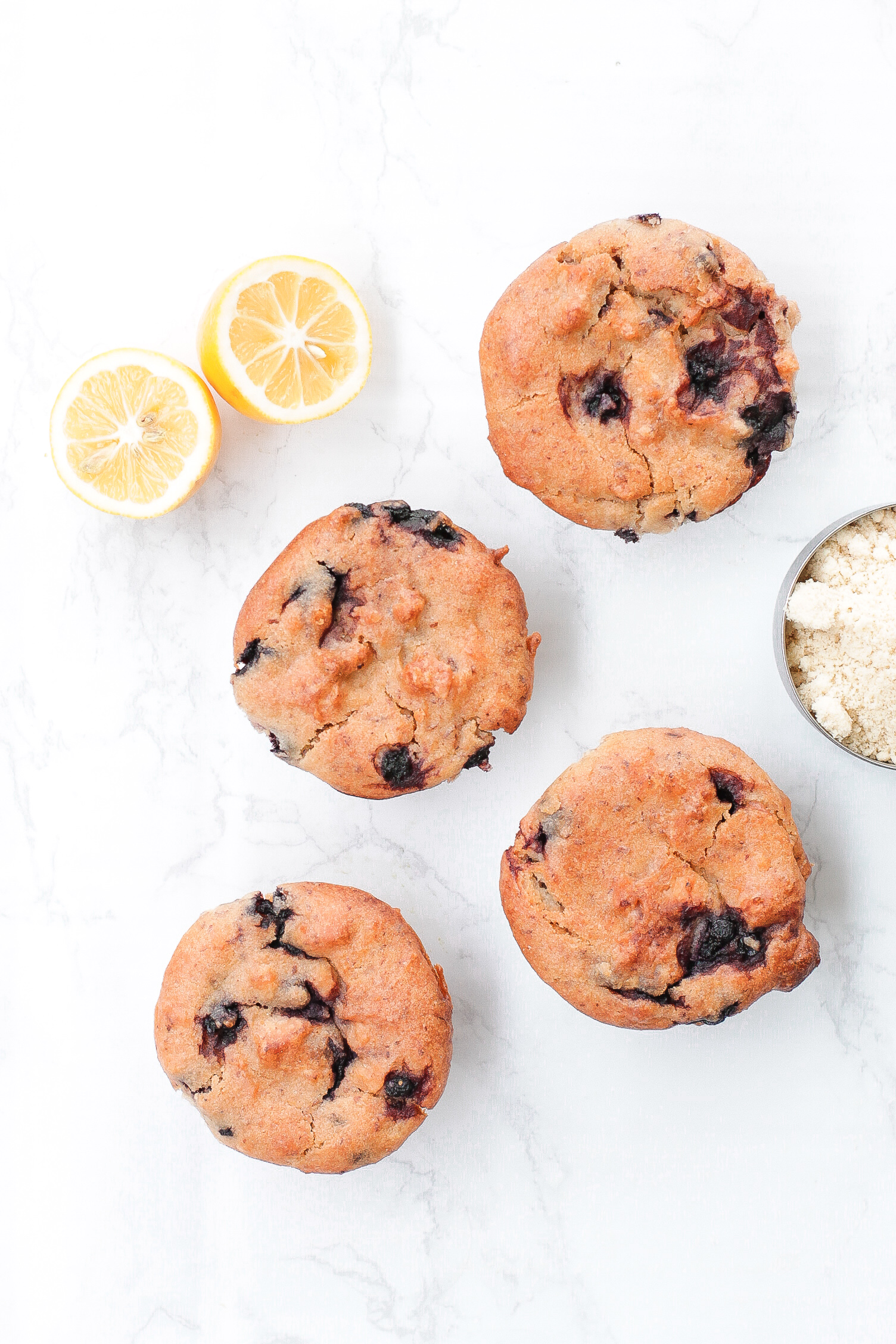 Vegan & Gluten-Free Lemon Blueberry Muffins