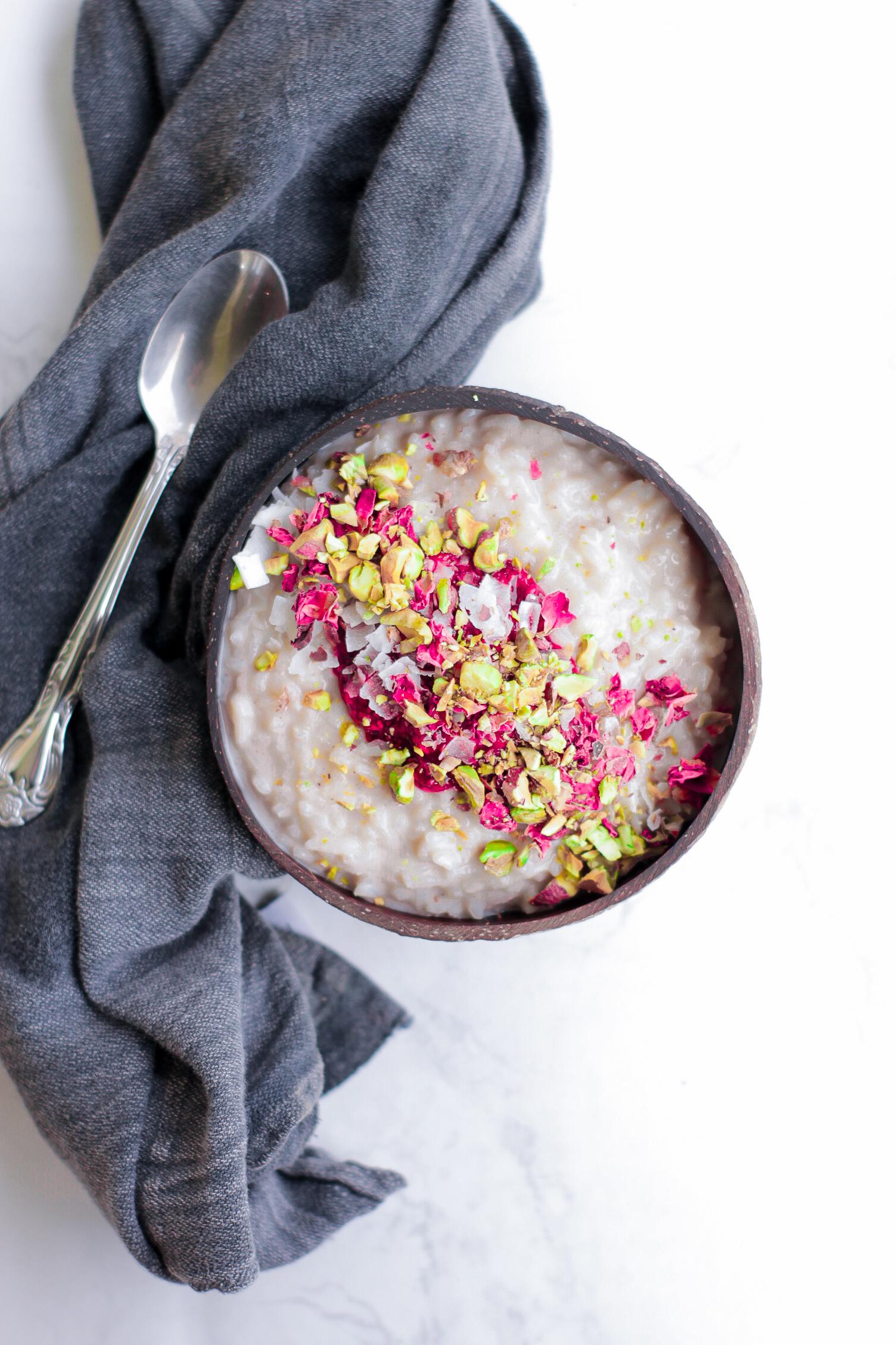 dairy free rice pudding