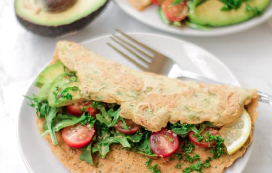 Savoury Chickpea Zucchini Pancake