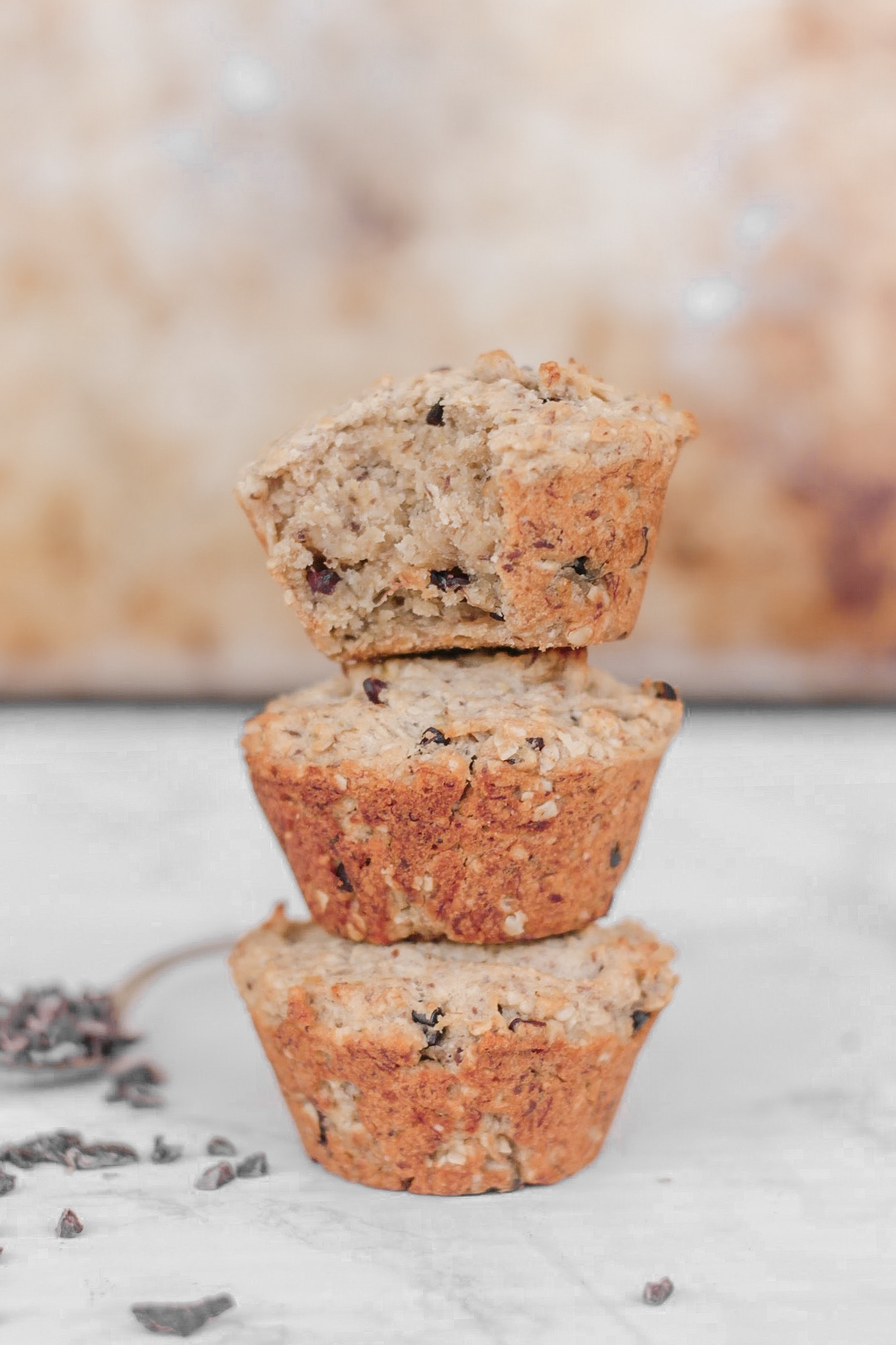 Banana Oat Protein Muffins