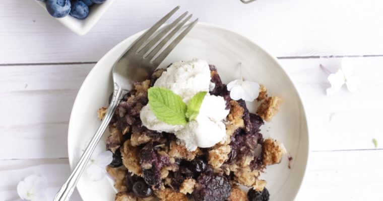 Easy Healthy Blueberry Crumble