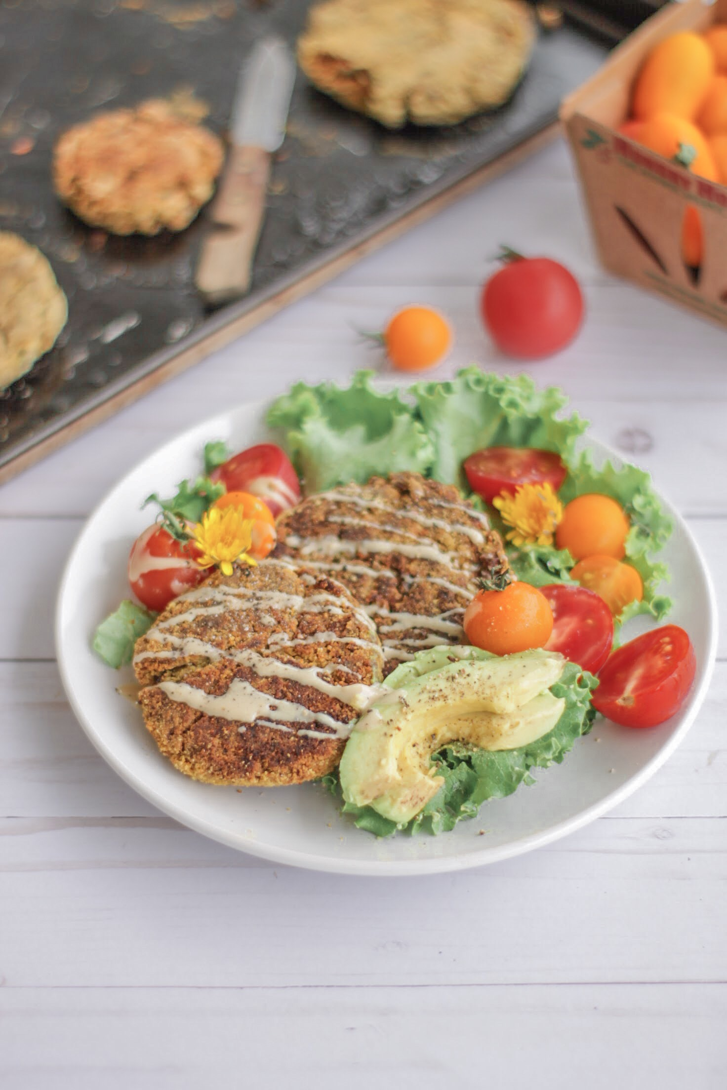 Recipe: Chickpea Yam Burgers