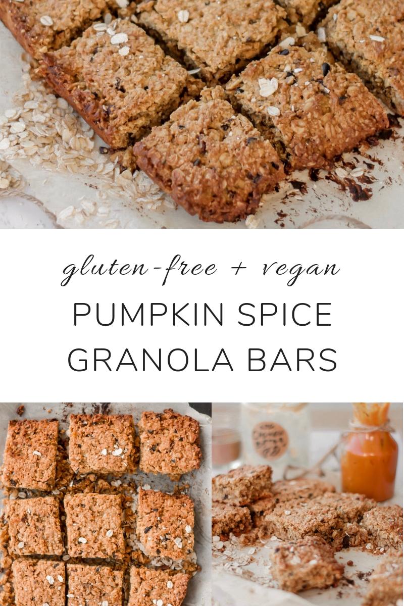 Pumpkin Spice Granola Bars