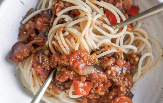 Recipe: Vegan Lentil Spaghetti Bolognese