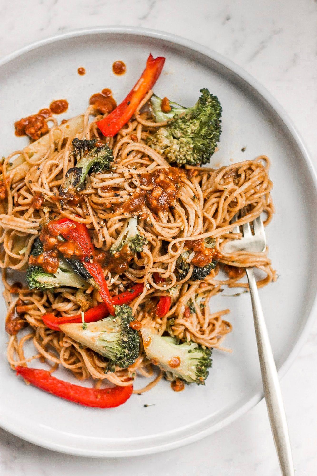 Bell Pepper & Broccoli Soba Noodle Salad