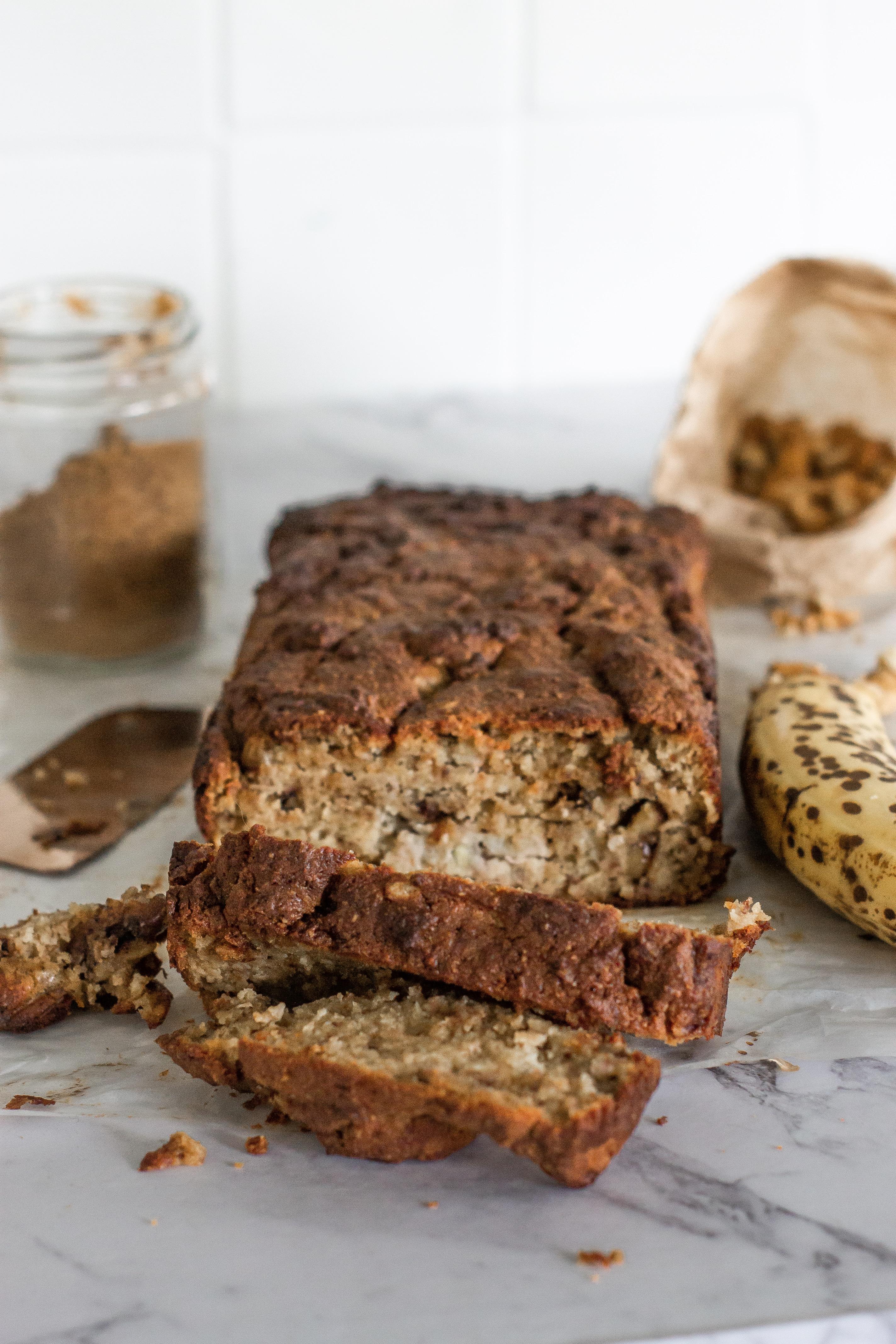 Recipe: Nutty Banana Bread (Paleo, GF, Sugar-Free)