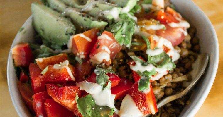 Recipe: Mushroom Lentil Burrito Bowls (Vegan, GF)