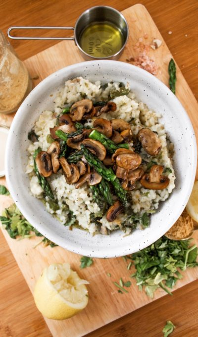 Recipe: Mushroom & Asparagus Risotto (Dairy-Free)