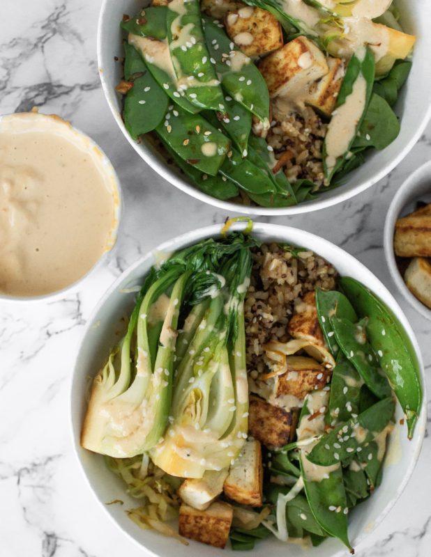 Peanut Satay Tofu Bowls