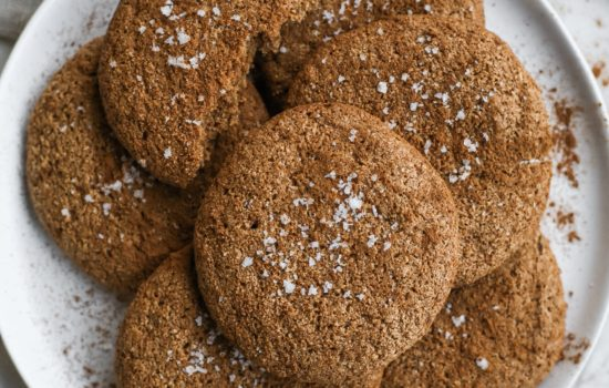 Gingersnap Tahini Cookies (Gluten Free and Dairy Free Recipe)